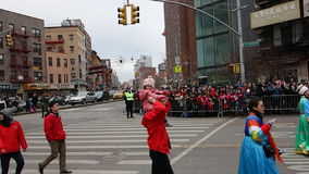 De Chinese het Nieuwjaarviering van 2014 in NYC 49 Stock Foto's