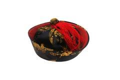 De Chinese hoed van Tradititional die op wit wordt geïsoleerdo Stock Afbeelding