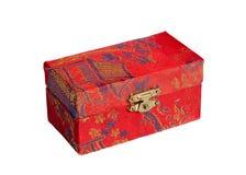 De Chinese kist die op wit wordt geïsoleerdu. Royalty-vrije Stock Afbeeldingen