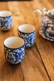 De Chinese koppen van de Thee Royalty-vrije Stock Foto's