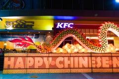 De Chinese lantaarn van de Draak Stock Fotografie