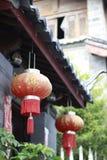 De Chinese lantaarns springen festaval op stock afbeeldingen