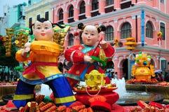 De Chinese Maandecoratie van het Nieuwjaar Stock Foto's