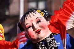 De Chinese MaanParade van het Nieuwjaar Stock Foto's