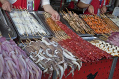 De Chinese markt Stock Foto's