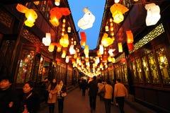 De Chinese Markt van de Tempel van het Nieuwjaar in jinli Royalty-vrije Stock Foto