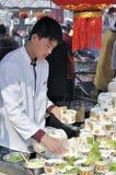 De Chinese Markt van de Tempel van het Nieuwjaar in wuhan Royalty-vrije Stock Foto's