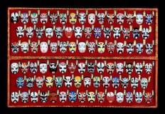 De Chinese Maskers van de Opera Stock Foto