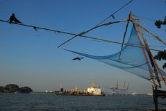 De Chinese Netten van de Visserij Stock Foto's