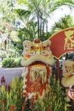 De Chinese nieuwe dans van de jaarleeuw royalty-vrije stock foto's