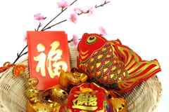 De Chinese nieuwe punten van de jaardecoratie Stock Afbeelding