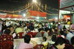 De Chinese Nieuwe Viering van het jaar in kolkata-India Stock Afbeeldingen