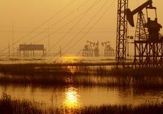 De Chinese olie van de Provincie Jiangsu fieldã Stock Foto's