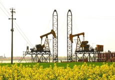 De Chinese olie van de Provincie Jiangsu fieldã Royalty-vrije Stock Foto's