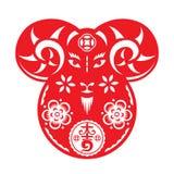 De Chinese overhellende illustratie van de Geitpop Royalty-vrije Stock Fotografie