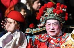 De Chinese Parade van het Nieuwjaar Stock Foto