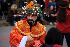 De Chinese Parade van het Nieuwjaar Stock Afbeeldingen
