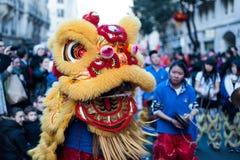 De Chinese Parade van het Nieuwjaar Royalty-vrije Stock Foto's