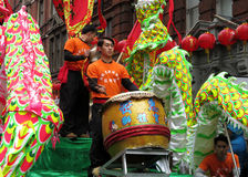 De Chinese Parade van het Nieuwjaar Stock Foto's