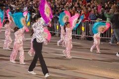 De Chinese Parade van het Nieuwjaar in Chinatown Royalty-vrije Stock Fotografie