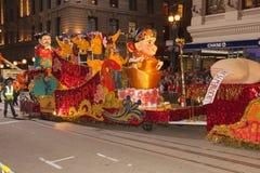 De Chinese Parade van het Nieuwjaar in Chinatown Royalty-vrije Stock Foto