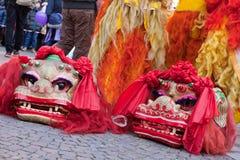 De Chinese parade van het Nieuwjaar in Milaan Stock Foto