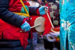 De Chinese parade van het Nieuwjaar in Milaan Royalty-vrije Stock Afbeelding