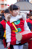 De Chinese parade van het Nieuwjaar in Milaan royalty-vrije stock foto