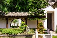 De Chinese Poort van de Tuin Royalty-vrije Stock Foto's