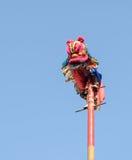 De Chinese prestaties van de leeuwdans Stock Fotografie