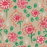 De Chinese roodbruine sinaasappel van de inktbloem spreidde naadloos patroon uit vector illustratie