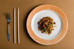 De Chinese salade van een varen Royalty-vrije Stock Afbeeldingen