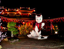 De Chinese Scène van de Nacht van het Nieuwjaar Royalty-vrije Stock Foto's
