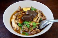 De Chinese soep van de broodjesnoedel Stock Foto's