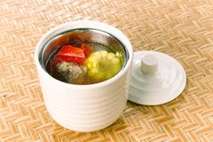 De Chinese soep van het het varkensbeen van het foodï¼ Graan Royalty-vrije Stock Foto's