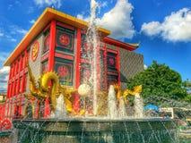 De Chinese stijl van de draakwandelgalerij Stock Foto's