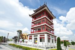 De Chinese stijl van de waarnemingscentrumtoren Royalty-vrije Stock Afbeeldingen