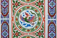De Chinese tegels van de stijlmuur Stock Foto