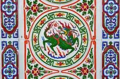 De Chinese tegels van de stijlmuur Stock Afbeelding