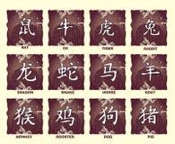 De Chinese Tekens van de Dierenriem Stock Foto