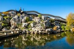 De Chinese Tuin van Dunedin in Nieuw Zeeland Stock Fotografie
