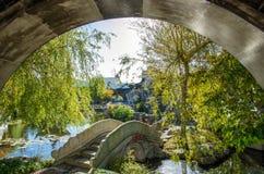 De Chinese Tuin van Dunedin in Nieuw Zeeland Royalty-vrije Stock Foto's