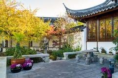 De Chinese Tuin van Dunedin in Nieuw Zeeland Royalty-vrije Stock Afbeeldingen