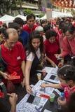 De Chinese Vieringen van het Nieuwjaar - Bangkok - Thailand Stock Foto