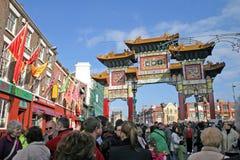De Chinese Vieringen van het Nieuwjaar in Liverpool Stock Afbeelding