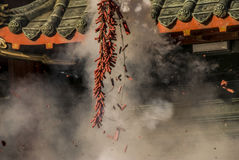 De Chinese Voetzoekers van het Nieuwjaar Stock Afbeeldingen