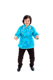 De Chinese Vrouw voert Tai Chi uit Stock Afbeeldingen