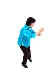 De Chinese Vrouw voert Tai Chi uit Royalty-vrije Stock Fotografie