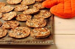 De Chips van de ochtend op een Dienblad van het Baksel Royalty-vrije Stock Fotografie