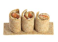 De chips van het brood met vissen en kaas Royalty-vrije Stock Fotografie